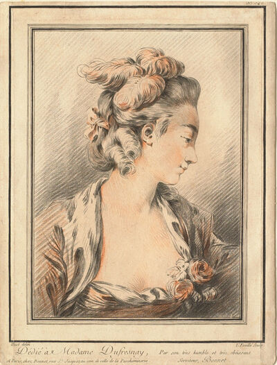 Louis-Marin Bonnet, 'Head of a Woman (Mme Dufresnay?)', 1750-1799