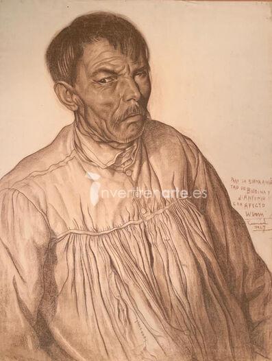 Wifredo Lam, 'Retrato de hombre vestido de claro', 1927