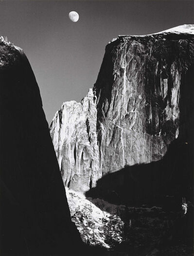 Ansel Adams, 'Moon and Half Dome, Yosemite National Park, CA', 1960