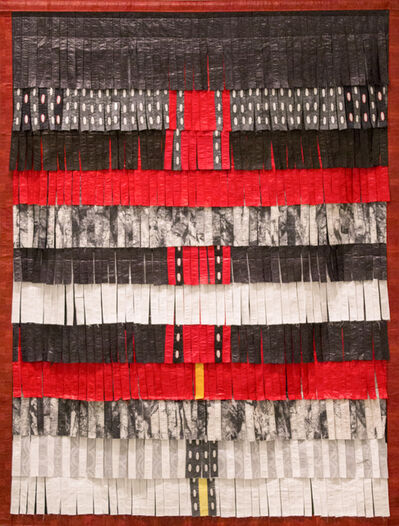 Abdoulaye Konaté, 'Composition noir, rouge, blanc et gris', 2016