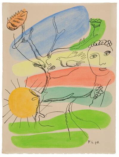 """Fernand Léger, 'Aprés le Déluge, (from """"Les Illuminations de Rimbaud"""")', 1948"""