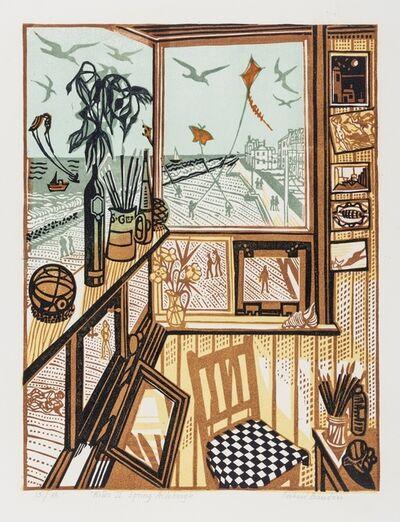 Richard Bawden, 'Kites II Spring Aldeburgh'