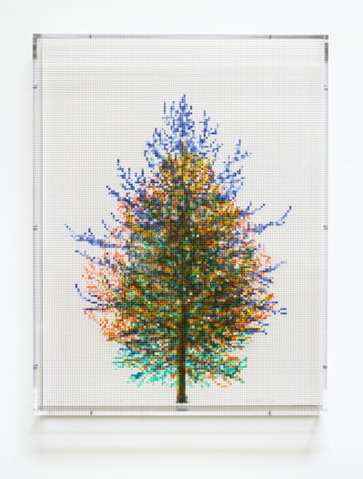 Charles Gaines, 'Numbers and Trees, Tiergarten Series 3: Tree #6, September, 2018', 2018