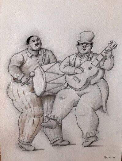 Fernando Botero, 'Musicians in the Carnaval', 2016