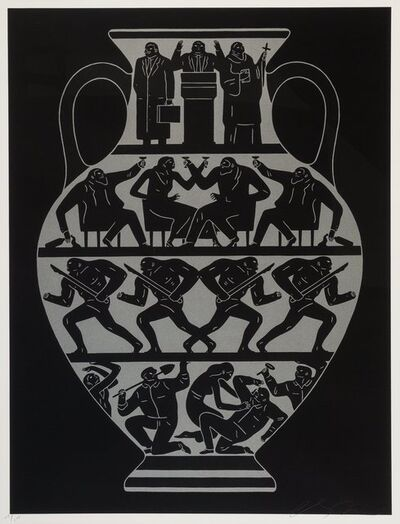 Cleon Peterson, 'Trump 2017 (Platinum Black)', 2017