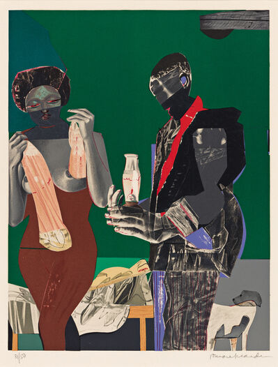 Romare Bearden, 'Before the First Whistle (Early Morning)', 1973