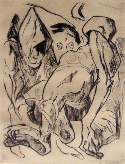 Max Beckmann, ' Second Illustration for Chapter One', 1917
