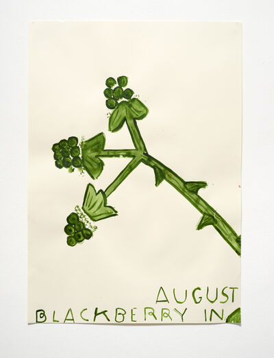 Rose Wylie, 'Blackberry in Augest', 2015