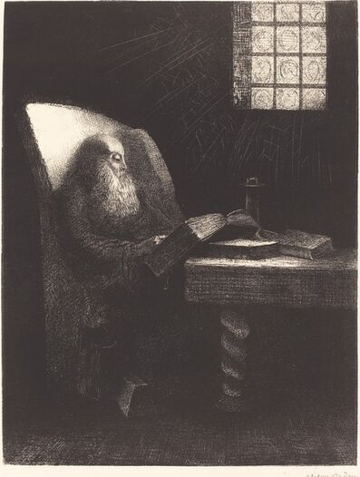 Odilon Redon, 'Le Liseur (The reader)', 1892