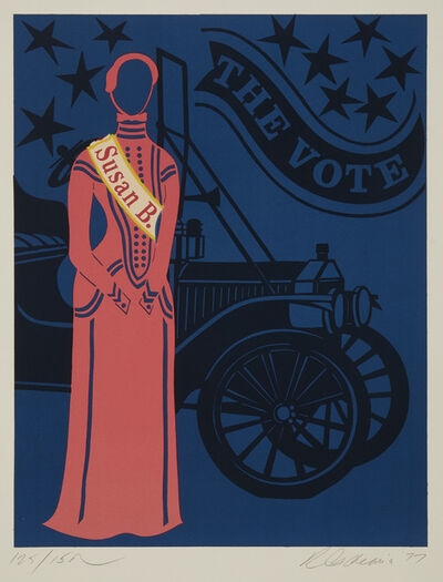 Robert Indiana, 'Susan B. Anthony, The Vote', 1977