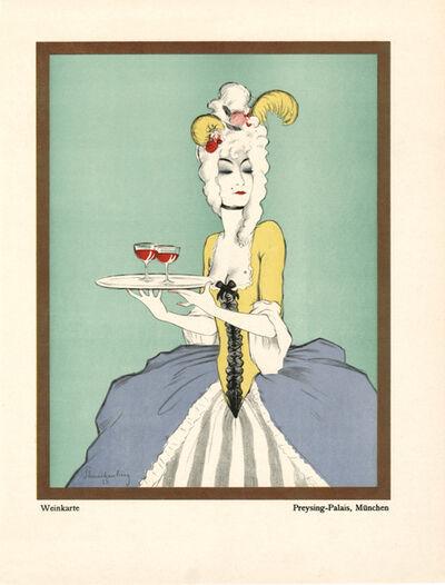 """Walter Schnackenberg, '""""Wine, Preysing Palais"""", Kostume, Plakate und Decorationen', 1920"""