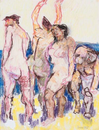 Fausto Pirandello, 'Four bathers'