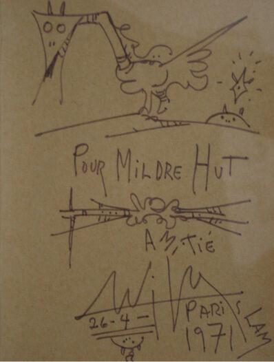 Wifredo Lam, 'Pour Mildre Hut', 1971