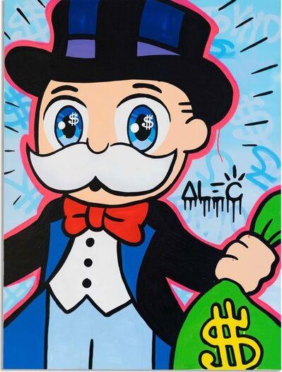 Alec Monopoly, 'Monopoly Big Eyes With $ Bag Graffiti ', 2020