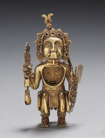 Central Mexico, Tetzcoco?, Aztec, Post-Classic Period, 'Figure of a Warrior', after 1325