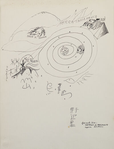 Gastone Novelli, 'Vuol dire: fantasia di paesaggio oppure Novelli', 1967