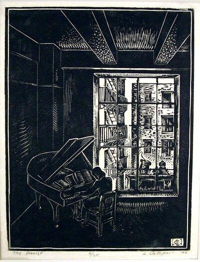 Letterio Calapai, 'The Pianist', 1944