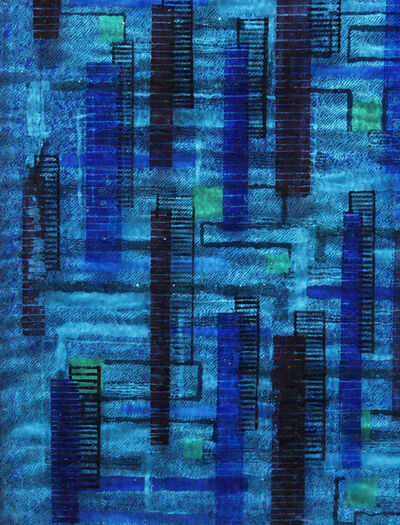 Irene Rice Pereira, 'Three-Dimensional Composition in Blue', c. 1940