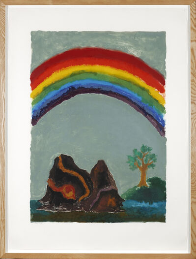 Ken Kiff, 'Bright Rainbow, Tree and Hills', 1989