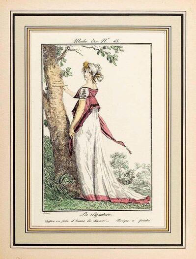 Philibert-Louis Debucourt, 'La Signature - From Modes et Manières du jour à Paris...', Early 19th Century