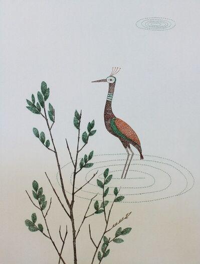 Keiko Minami, 'Peacock (oiseau dans l'eau)', 1968