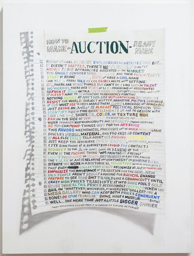 William Powhida, 'How To Make An Auction Ready-Made', 2014