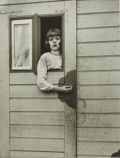 August Sander, 'Girl in Fairground Caravan', 1927-1932