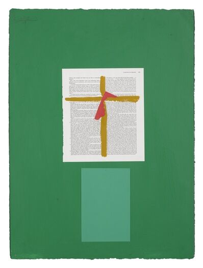 Robert Motherwell, 'Art Bulletin Collage with Cross'