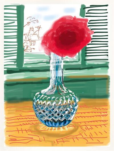 "David Hockney, '""Untitled"" Rose iPad Drawing. My window No. 281', 2010"