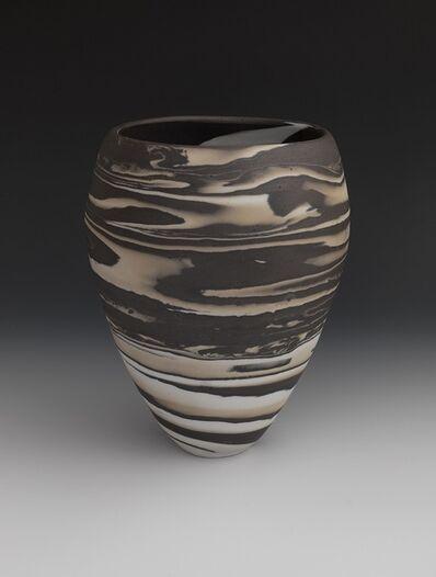 Lorraine Shemesh, 'Brown, Tan & White Swirl Neriage Vessel', 2017