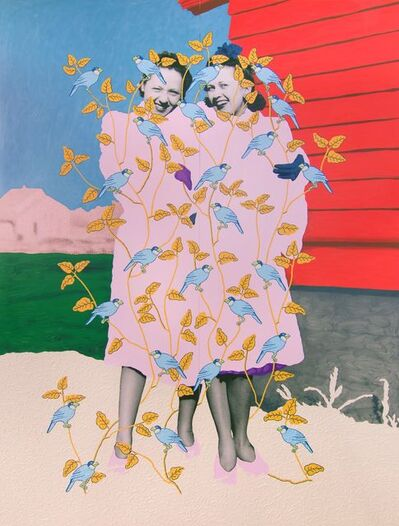 Daisy Patton, 'Untitled (Sisters in Fur Coats with Birds)', 2019