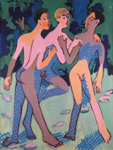 Ernst Ludwig Kirchner, 'Drei nackte junge Männer (Three Nude Young Men)', 1932/36