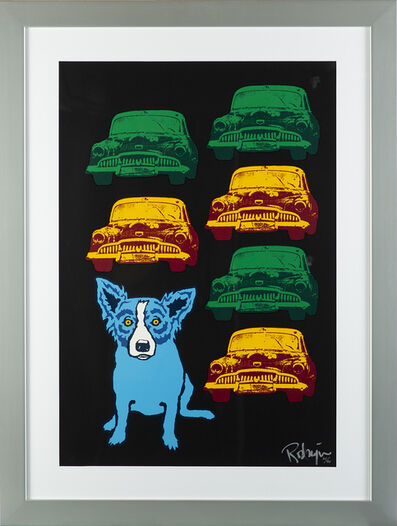 George Rodrigue, 'George Rodrigue  Junkyard Dog Signed Silkscreen Contemporary Art', 1990-2013