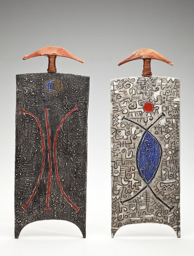 Victor Ekpuk, 'Moon meet us apart, May the sun find us together', 2001