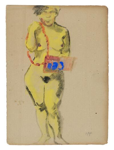 Max Pechstein, 'Standing Female Nude', ca. 1910