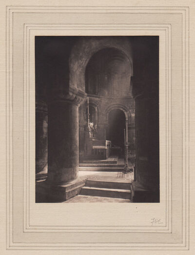 Frederick Henry Evans, 'Aisle to Altar, Priory of St. Bartholomew the Great', Neg. date: 1912 / Print date: 1912
