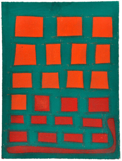 Julian Martin, 'Untitled (red shapes on green)', 2011