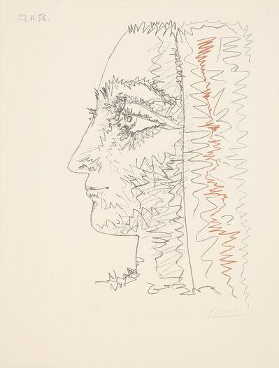 Pablo Picasso, 'Profil en trois couleurs', 1956