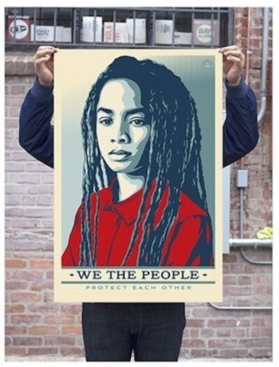 Shepard Fairey (OBEY), 'Protect Each Other - Unsigned Offset', 2017