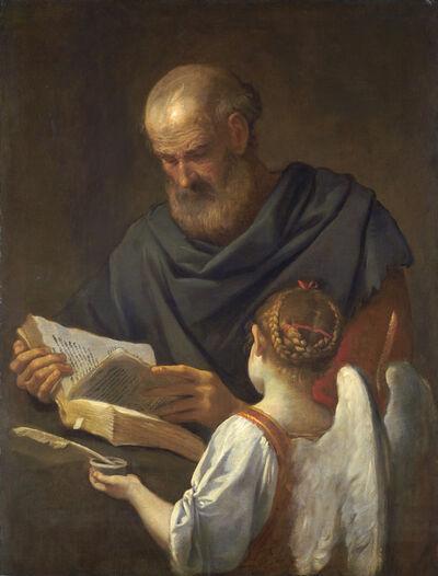 Simone Cantarini, 'Saint Matthew and the Angel', ca. 1645/1648