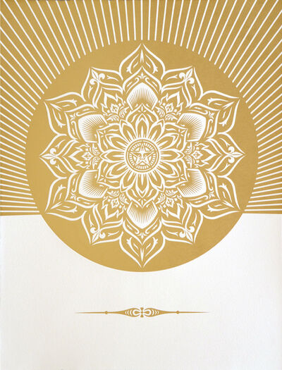 Shepard Fairey, 'Obey Lotus Diamond  (White & Gold)', 2013