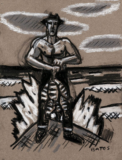 David Bates, 'Man with Catch', 2009
