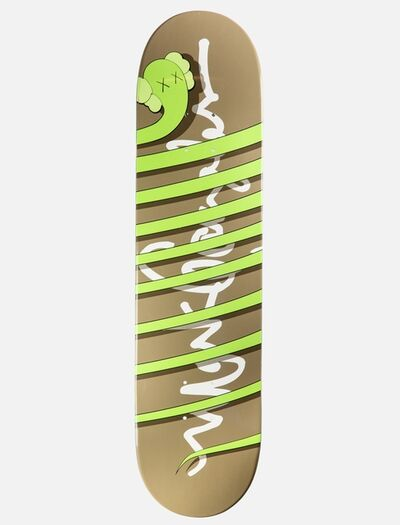 KAWS, 'Green Snake (Limited Edition Numbered Skateboard)', ca. 2005