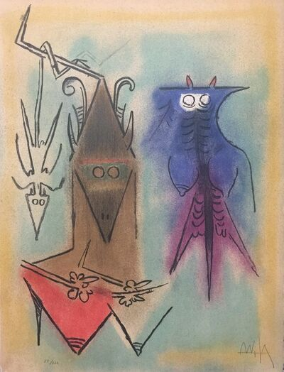 "Wifredo Lam, 'Démons Familiers - from the suite ""Pleni Luna""', 1974"