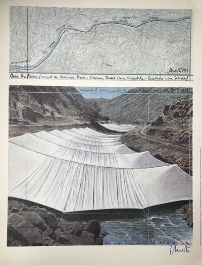 Christo Vladimiroff Javacheff, 'Over the River, Project for the Arkansas River', 1993