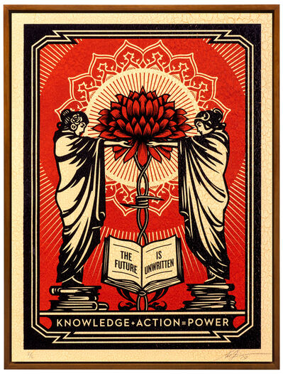 Shepard Fairey (OBEY), 'Knowledge + Action', 2019