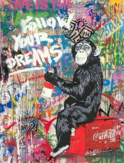 Mr. Brainwash, 'Every Day Life - Follow Your Dreams (White)', 2019