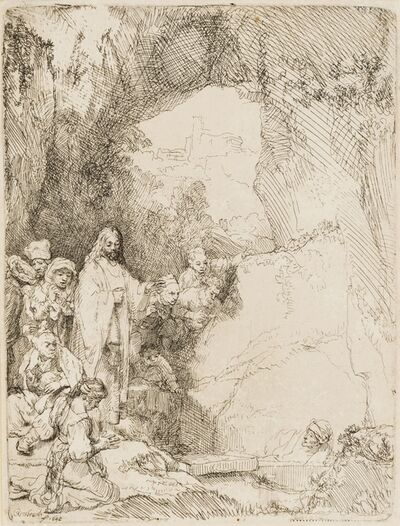 Rembrandt van Rijn, 'The Raising of Lazarus: the Small Plate', 1642