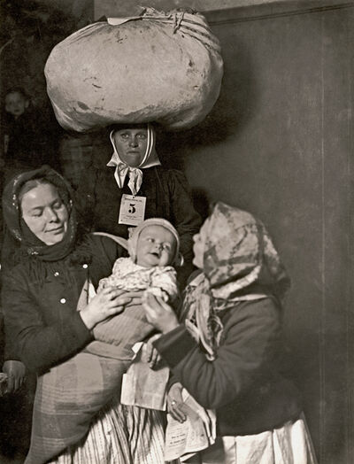 Lewis Wickes Hine, 'Slovak Group at Ellis Island', 1905/1921