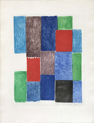 Sonia Delaunay, 'Avec moi-meme - Plate 10', 1970